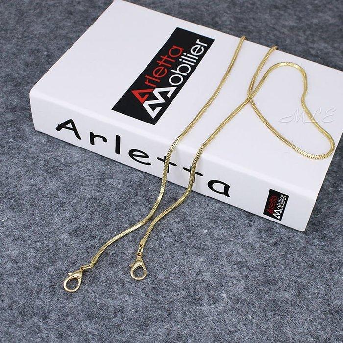 全銅細鍊條單買包包鍊條配件高檔金屬鍊不褪色小包帶包包鍊子