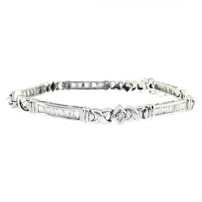 【JHT 金宏總珠寶/GIA鑽石專賣】1.31ct天然造型鑽石手鍊/材質:18K(D000072)