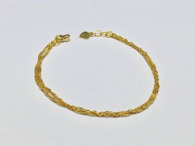 【JHT 金宏總珠寶/GIA鑽石】0.77錢/18cm 黃金手鍊 (請詳閱商品描述)