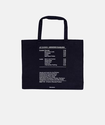 (A.B.E)PLEASURES X JOY DIVISION WILDERNESS HEAVYWEIGHT TOTE BAG