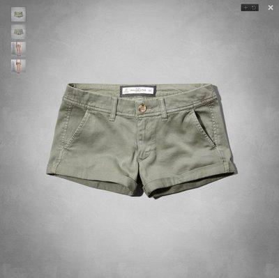 ☆瘋米國衣舖☆ Abercrombie&Fitch A&F AF 女生休閒短褲 軍綠色 美國 麋鹿 熱褲