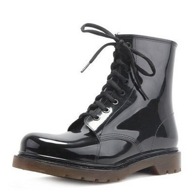 全地形歐美男士雨鞋 時尚中高筒馬丁雨靴防滑功能水鞋套鞋