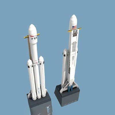 SpaceX獵鷹重型火箭手工藝紙質DIY動手科普航空紙模型