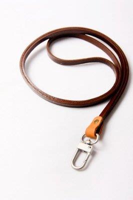 點子包 iclea X bag │手作進口牛皮掛繩 證件夾 工作證 掛牌 咖啡色/黑色 DG07-1