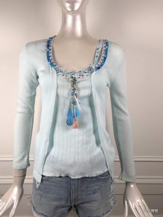 [我是寶琪] 關穎二手商品 英國RITA 水藍針織背心+外套