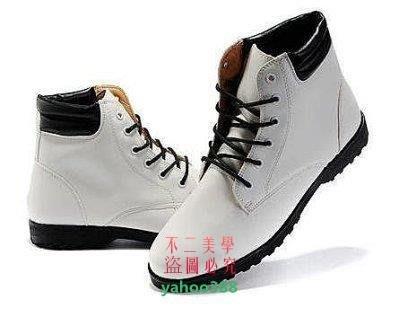 美學161軍靴高幫鞋尖頭皮鞋韓版短靴馬丁靴男靴子英倫靴男士皮靴 男鞋 皮鞋❖4596