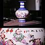 旦旦妙 景德鎮陶瓷器青花粉彩骨質瓷花瓶 紅花燈籠瓶 開心陶瓷372