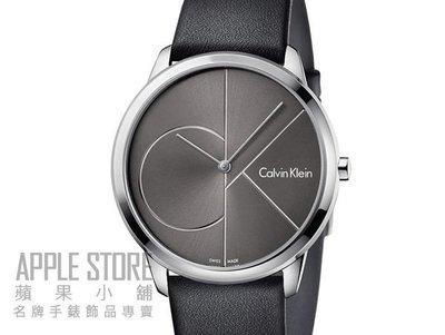 【蘋果小舖】CK minimal 新世代時尚皮帶腕錶-黑-35mm K3M221C3