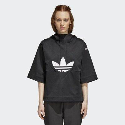 adidas CLRDO SWEATHOOD CY3563 連帽上衣 黑色 女款