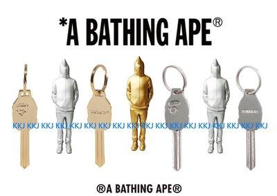 2015 BAPE APE HEAD KEY 金色 銀色 鑰匙 造型 鑰匙圈