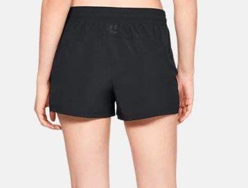 UA Perpetual Woven 女子 輕量 網眼 慢跑 訓練 運動 短褲 外搭褲-黑M-1321036