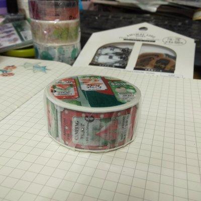 【R的雜貨舖】紙膠帶分裝 非整捲 小徑 X 涼丰 冬之宴系列 - 耶誕節來了 X'mas is coming
