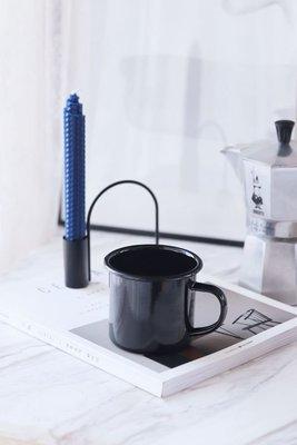 歐斯特館~80 vintage tine復古懷舊簡約經典搪瓷水杯ins風黑色搪瓷咖啡杯