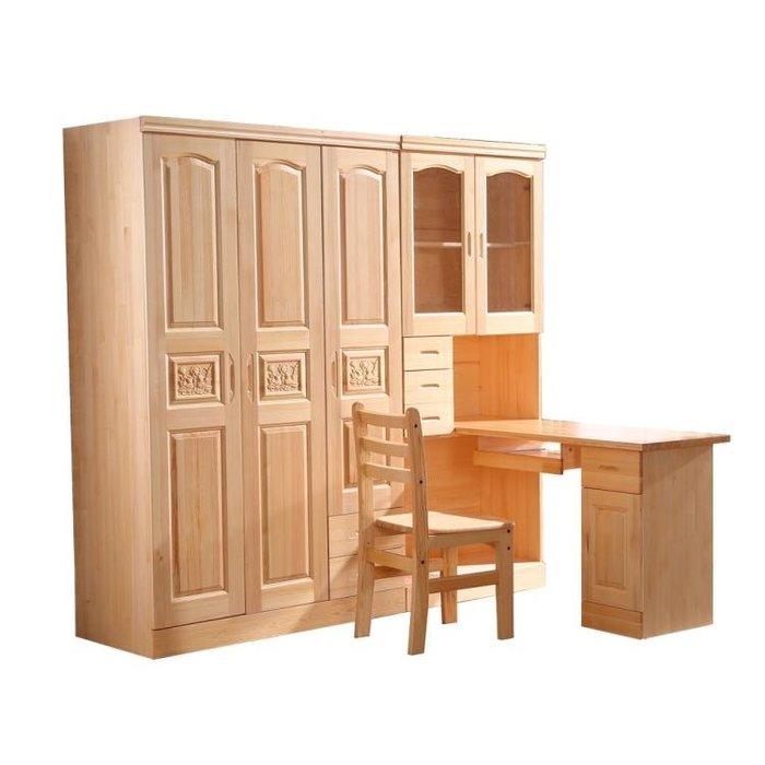 免運 可開發票 全實木松木轉角書桌直角書柜衣柜組合兒童成人電腦桌白色寫字臺 『伍月生活小鋪』