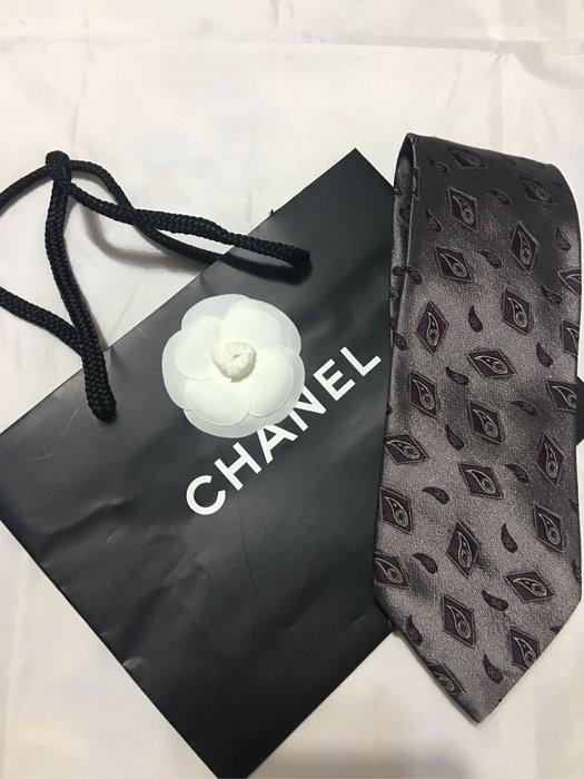CHANEL香奈兒 絲質領帶 真品釋出 附原裝紙袋  特賣會開跑