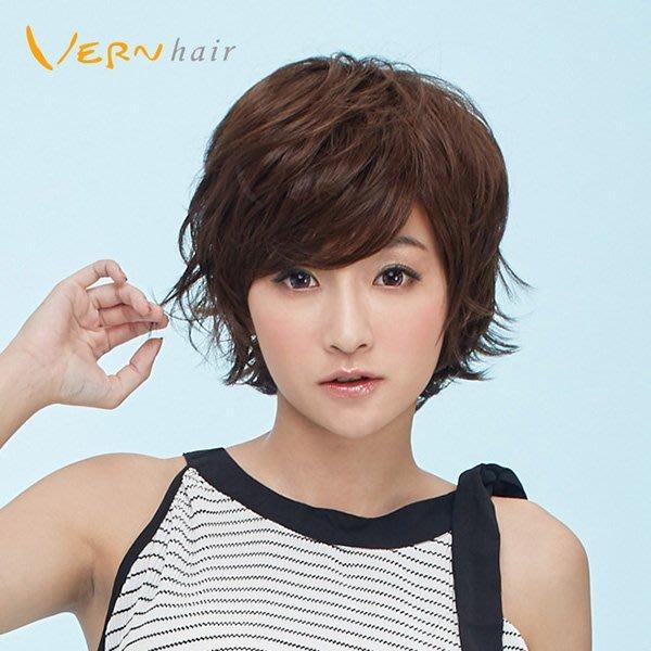 韋恩假髮-整頂-短髮-率性俐落短髮--賴雅妍男孩風髮型-嚴選日本高仿真不打結髮絲-Vernhair【VH10936】
