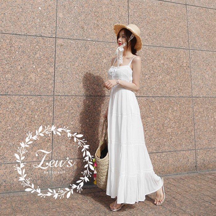 【ZEU'S】韓國夏季休閒復古連身裙『 05118801 』【現+預】E