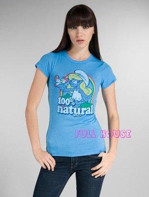 【FULL HOUSE 】超人氣品牌JUNK FOOD 藍色小精靈100%  natural Q TEE