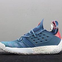D-BOX  Adidas Harden Vol.2 籃球鞋 針織 透氣 藍色