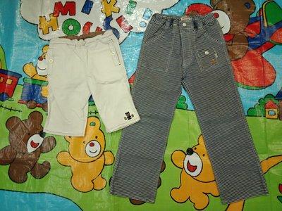 日本正品miki-House double. b黑熊短褲120和MH款長褲130