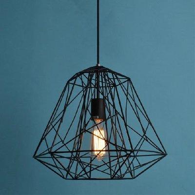 5Cgo【燈藝師】含稅會員有優惠 20537247375 北歐宜家工業風 Hive pendant 鐵藝鑽石鐵籠吊燈