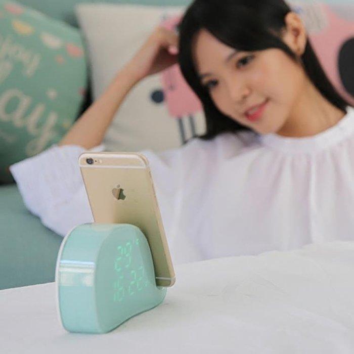 簡約多功能鬧鐘 床頭學生智慧鬧鐘夜光靜音電子時鐘   新品