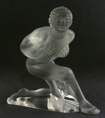 @晶湛坊@ LALIQUE 萊儷 法國水晶擺飾: 爵士舞者, 附原裝盒子,1998年出品,絕版典藏 !!!