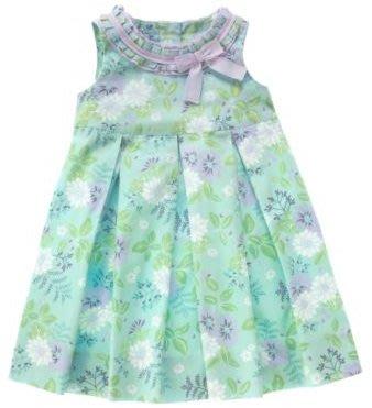 (((出清特價))) 全新 ~ JANIE AND JACK 紫綠花樣褶邊洋裝 (7yrs)