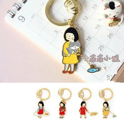 原創 雲朵/遛狗/抱狗/報貓 怎麼這麼可愛鑰匙圈 婚禮小物  吊飾 創意 文創 生日 裝飾