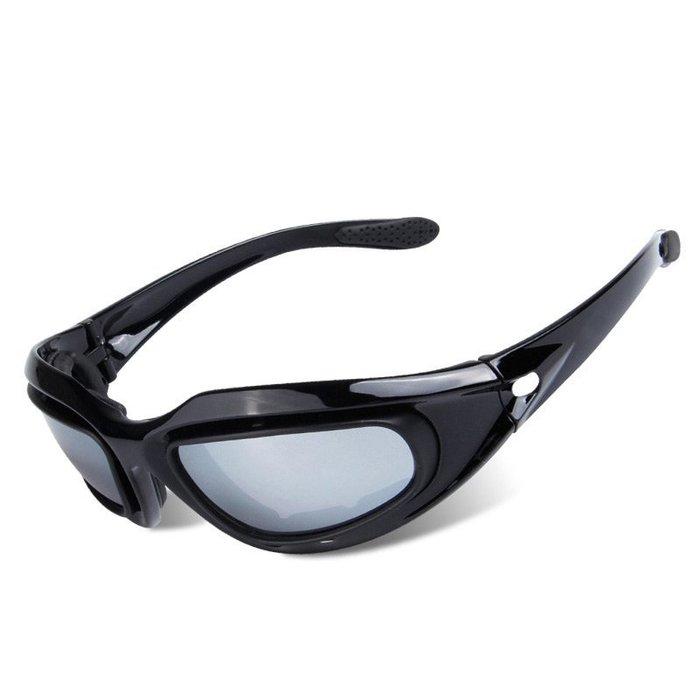 【購物百分百】新款C5摩托車風鏡  男女運動騎行眼鏡 CS戰術防護眼鏡  四片裝