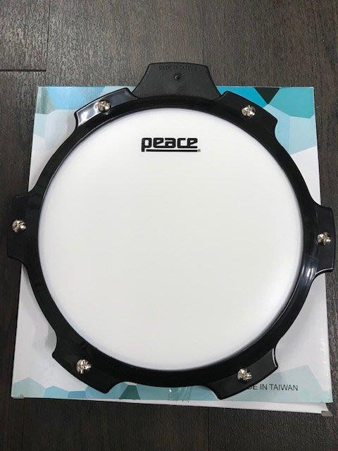 筌曜樂器(F1026)全新 PEACE 8吋 爵士鼓 打擊  打點 練習板 (黑框白板) 特價(可加購腳架)