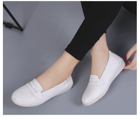 FINDSENSE品牌 四季款 新款 日本 女 高品質 簡約  真皮 小白鞋 百搭 舒適 護士鞋 休閒鞋  潮流鞋子