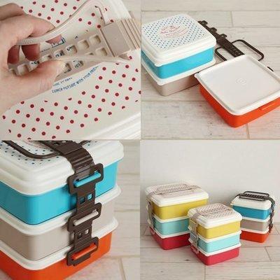 日本Salir Familiar Picnic日式三層便當盒 野餐盒