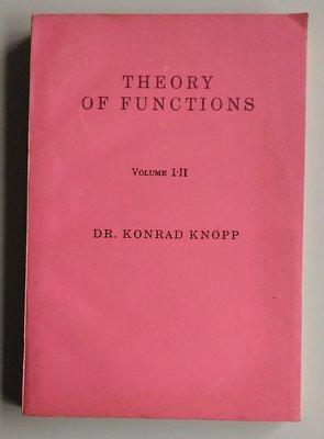 【書香傳富】THEORY OF FUNCTIONS Vol.I.II_KONRAD KNOPP-8成新