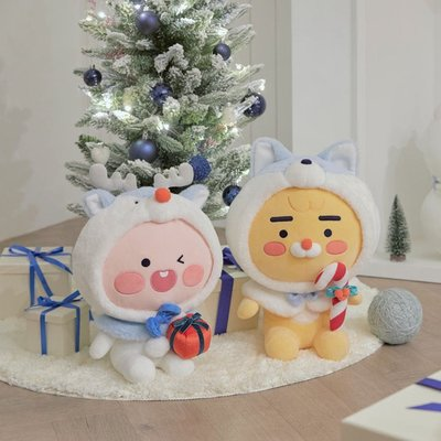現貨 KAKAO FRIENDS 2020聖誕節38cm紅鼻子亮燈娃娃