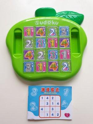 青蘋果 數讀 SUDOKU 123 益智力遊戲 思考遊戲 專注力遊戲 數字遊戲 早療訓練 四空格遊戲 玩具~安安 城