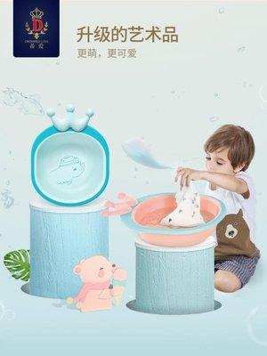 蒂愛嬰兒洗臉盆小寶寶臉盆pp新生兒童卡通可折疊家用用品2個3個裝