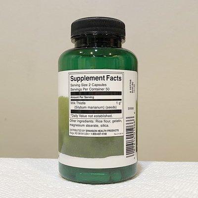 【MAXX美國代購】肝臟健康Swanson奶薊精華飛水奶薊草膠囊美國原裝進口500mg100粒