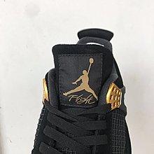 少量 AIR JORDAN 4 Royalty 麂皮 ~ 308497-032 黑金 男女鞋【GLORIOUS潮鞋代購】