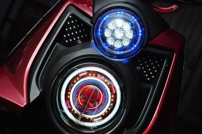 GAMMAS HID 台中廠 三葉YAMAHA BWS'X 大B 鐵男-9晶LED滿天星 光圈   鋼鐵人 小燈15