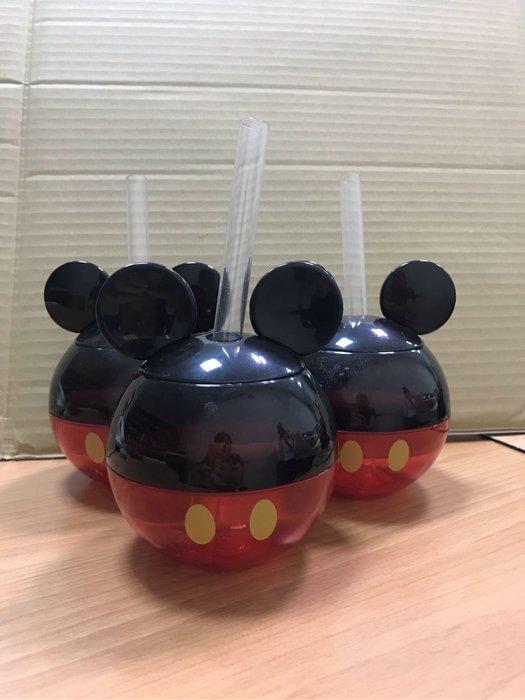 現貨歡慶米奇90週年 香港迪士尼 米奇 飲料杯*(附透明吸管)三個一組