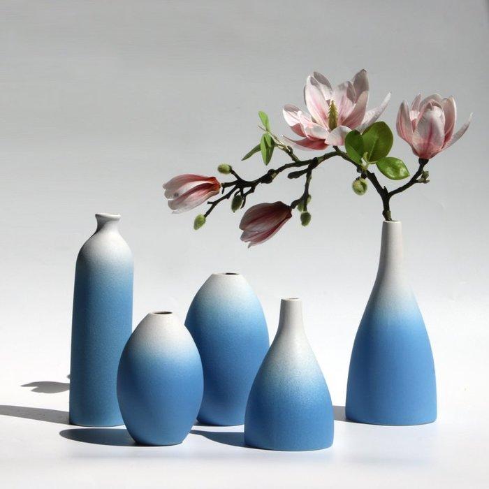 熱賣泥摳 INS風北歐漸變陶瓷花瓶客廳插花工藝擺件清新干花裝飾工藝品#擺件#陶瓷#北歐