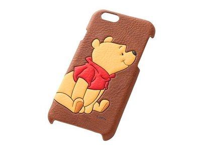尼德斯Nydus~* 日本正版 Disney 迪士尼 小熊維尼 皮套 立體 背蓋式 手機殼 iphone6 4.7吋