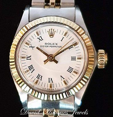 ((天堂鳥)) 新品刊登 Rolex 勞力士6917 Oyster Perpetual 半金蠔式自動上鍊女錶|特惠價