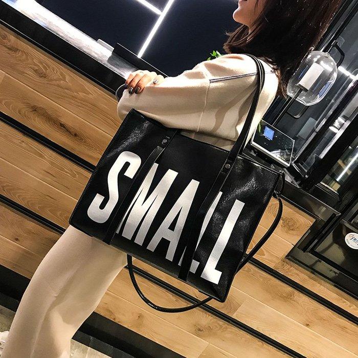 单肩包女大包包PU2019新款时尚百搭斜挎包大容量大气手提包托特包  衣品居 YPJ