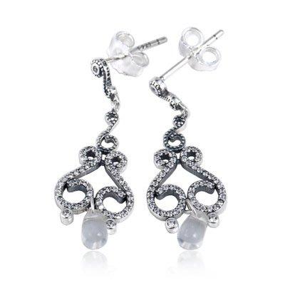 凱莉代購  S925 純銀百搭鑲鑽復古耳環  預購特價