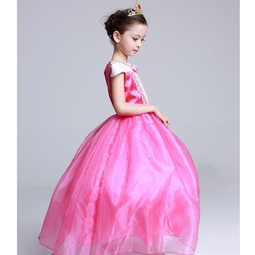 八號倉庫 萬聖節女童閃亮粉色公主洋裝 表演服 皇冠 魔法棒 3件/組【2F133M868】