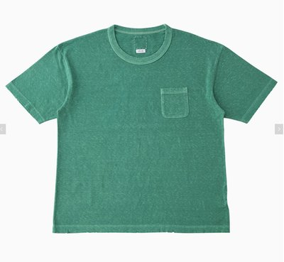 VISVIM JUMBO TEE S/S (UNEVEN DYE) 口袋素面T 0121205010009。太陽選物社