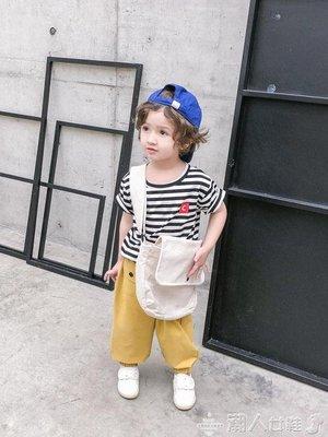 兒童短袖男童短袖t恤純棉兒童潮童寶寶夏裝男洋氣男寶寶小童t小孩條紋上衣
