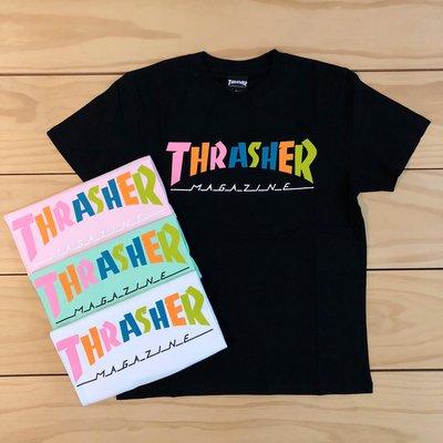 ☆ETW☆【一中店 】日線 THRASHER HOMETOWN 70S TEE  彩虹 短T 短袖 黑 白
